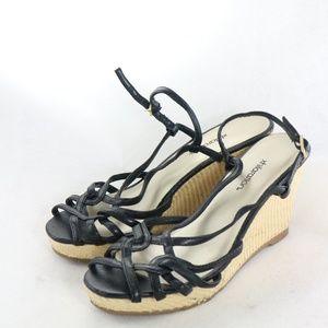 XHILARATION Strappy Espradrille Wedge Sandals